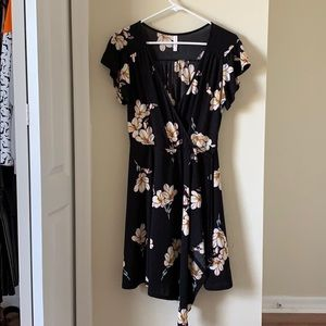 Black and flower dress